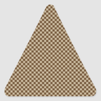 Checkered - Brown 2 - Khaki and Dark Brown Triangle Stickers