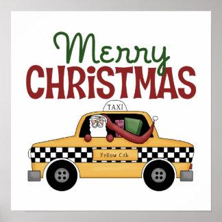 Checkered Cab Christmas Gift Poster