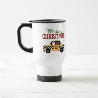 Checkered Cab Christmas Gift Travel Mug