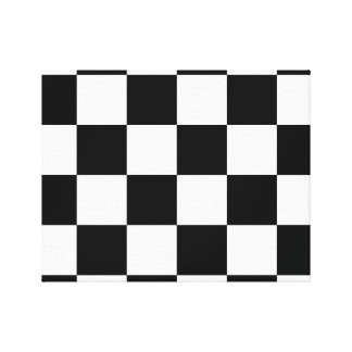 Checkered Canvas Print