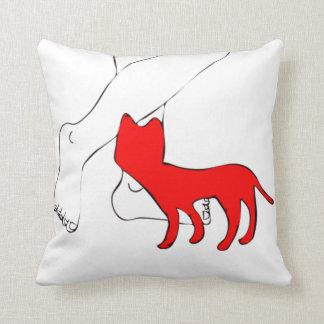 Checkered Cat Throw Pillow