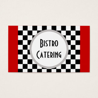 Checkered Catering or Restaurant Business Card