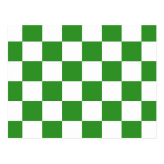 checkered, checked, squared postcard