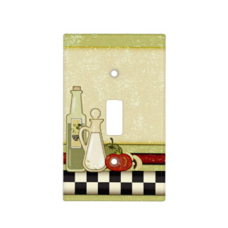 Checkered cooking pattern light switch cover