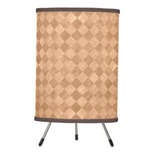 Checkered Copper Orange Grunge Tripod Lamp