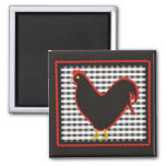 Checkered Country Chick Chalkboard 2 Inch Square Magnet