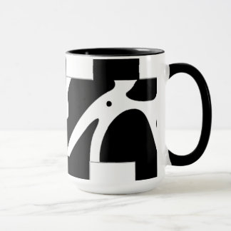 Checkered & Cow Print Coffee Cup