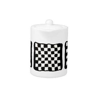 Checkered Crochet Style Teapot