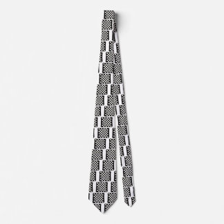 Checkered Crocheted Style Tie