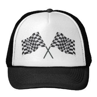checkered cross flags hats
