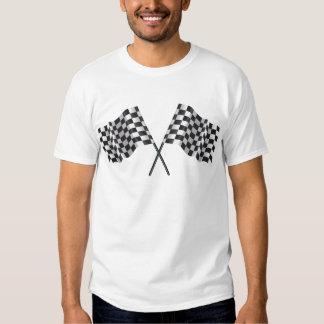 checkered cross flags t shirt