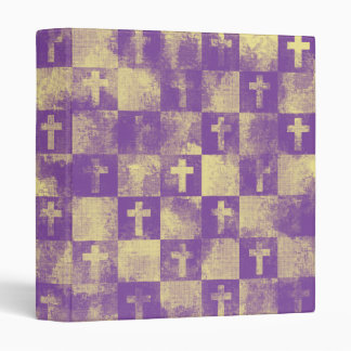 Checkered Crosses 3 Ring Binder