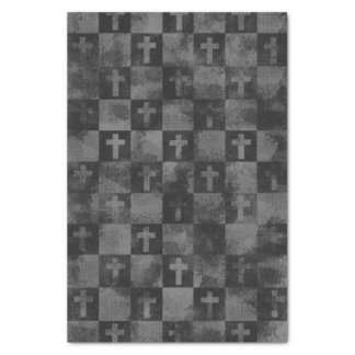 Checkered Crosses Tissue Paper