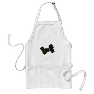Checkered Cubes Adult Apron
