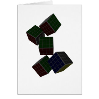 Checkered Cubes Card