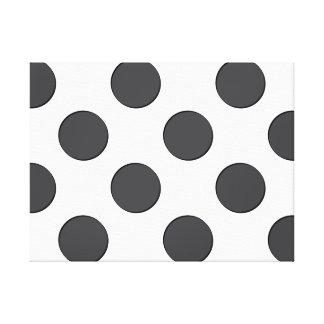 Checkered DarkGrey Dots Canvas Prints