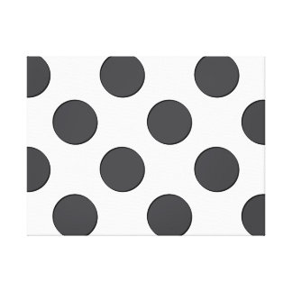 Checkered DarkGrey Dots Canvas Print