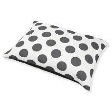 Checkered DarkGrey Dots Pet Bed