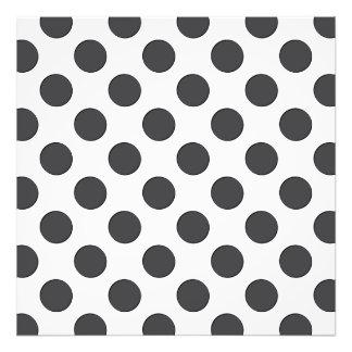Checkered DarkGrey Dots Photo
