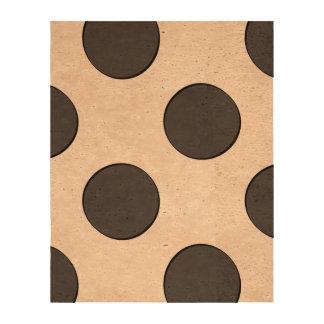 Checkered DarkGrey Dots Cork Fabric