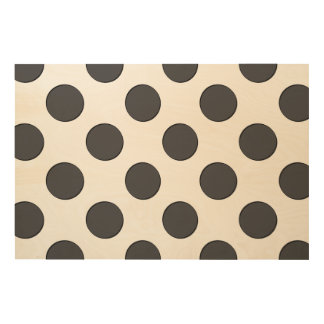 Checkered DarkGrey Dots Wood Canvases