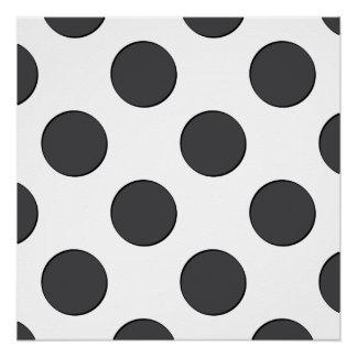 Checkered DarkGrey Dots Perfect Poster