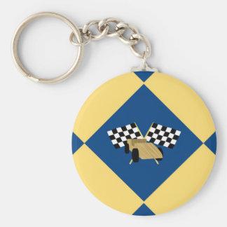 Checkered Derby Keychain
