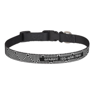 Checkered Design Dog Collar