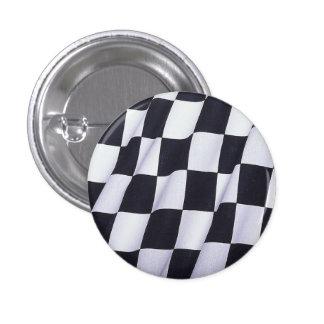 Checkered flag 1 inch round button