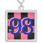 Checkered Flag 1 -_- Just Floor It -_- The 98 Car Custom Necklace
