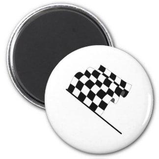 Checkered Flag 2 Inch Round Magnet