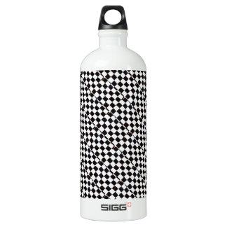 Checkered Flag Aluminum Water Bottle