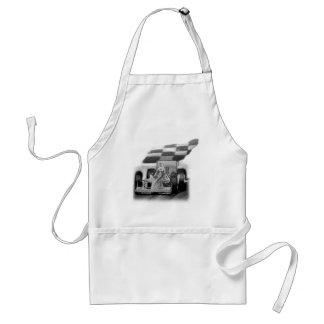 CHECKERED FLAG ADULT APRON