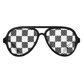 Checkered flag auto racing party shades sunglasses