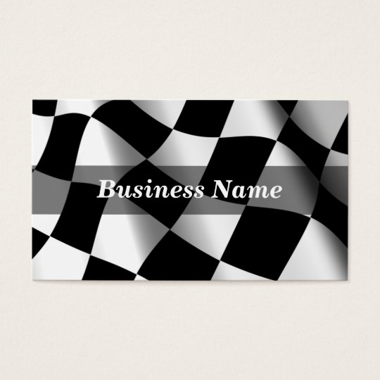 Checkered Flag Background Business Card