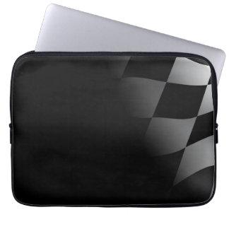 Checkered Flag Black Neoprene Laptop Sleeve
