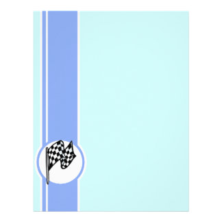 Checkered Flag; Blue Letterhead