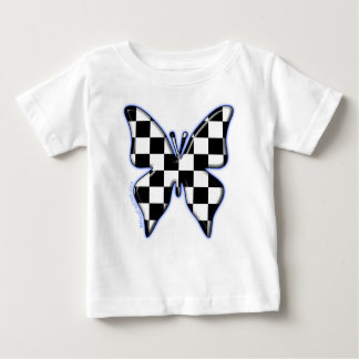 Checkered flag butterfly t shirts