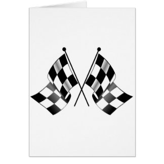 checkered flag card