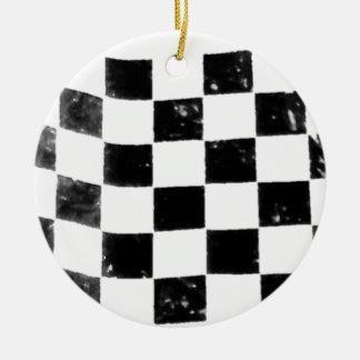 Checkered Flag Ceramic Ornament