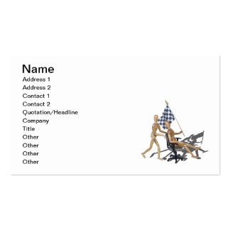 Checkered Flag Chair Races Business Card
