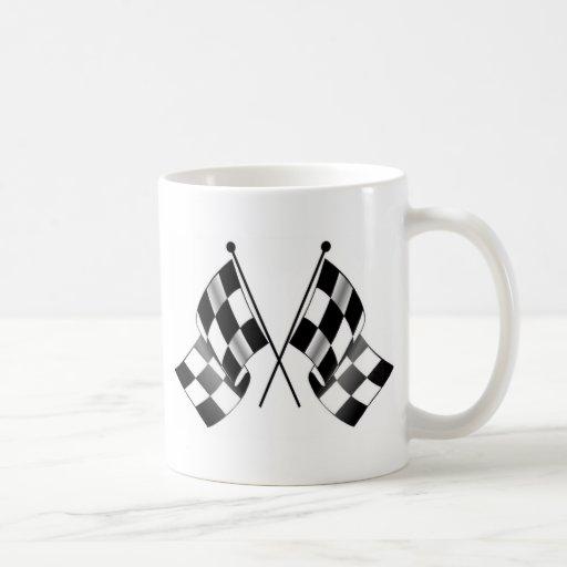 checkered flag coffee mugs