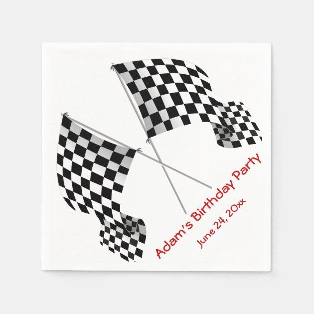 Checkered Flag Beverage Napkins