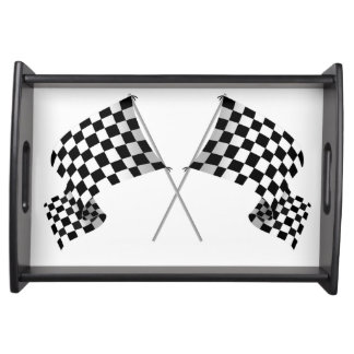 Checkered Flag Design Serving Tray
