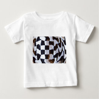 Checkered Flag Distorted Baby T-Shirt