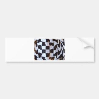 Checkered Flag Distorted Bumper Sticker