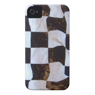 Checkered Flag Distorted iPhone 4 Case-Mate Case