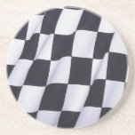 Checkered flag drink coasters