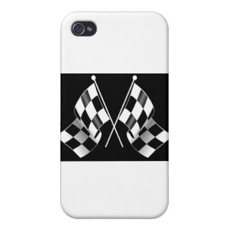 checkered flag iPhone 4 case