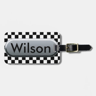 Checkered Flag Luggage Tag